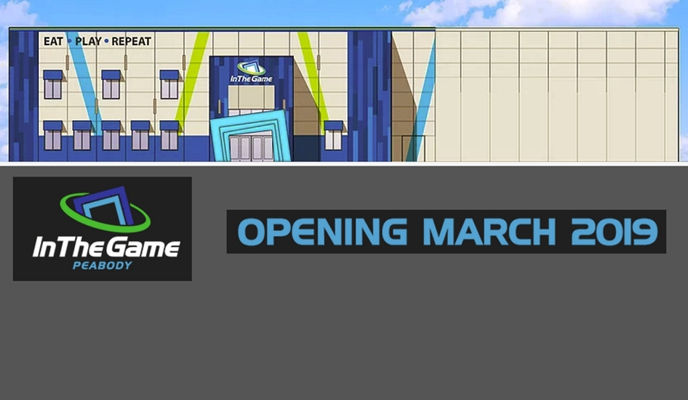 We are excited to introduce In The Game entertainment center to the community of Peabody, MA with a grand opening slated for March 2019