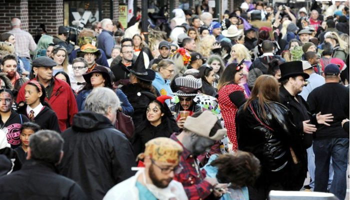 Tens of thousands of people traveled far and wide to celebrate the closing night of Haunted Happenings Tuesday night as seen here on the Essex Street Mall